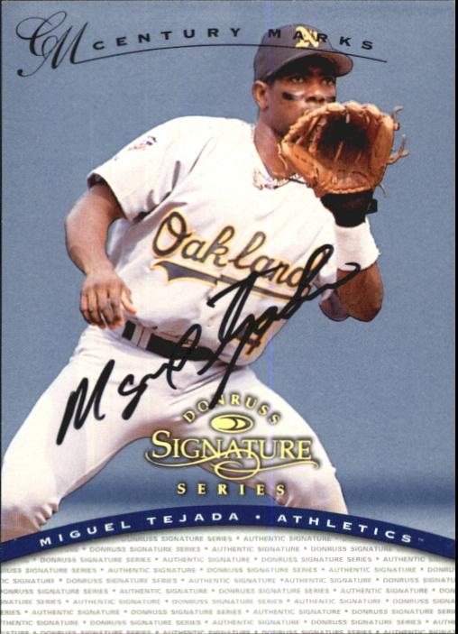 1997 Donruss Signature Autographs Century #118 Miguel Tejada