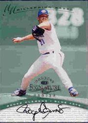 1997 Donruss Signature Autographs Millennium #26 Roger Clemens/400 *