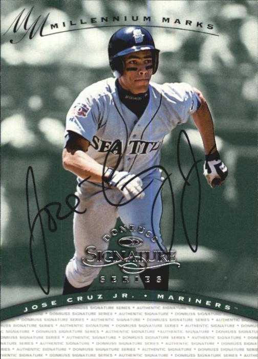 1997 Donruss Signature Autographs Millennium #32 Jose Cruz Jr. *
