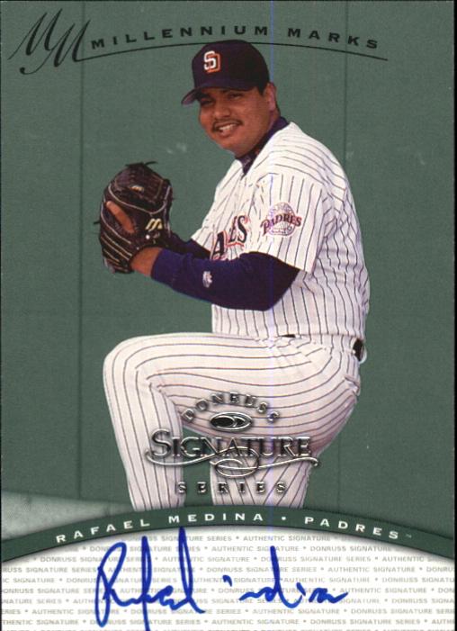 1997 Donruss Signature Autographs Millennium #87 Rafael Medina