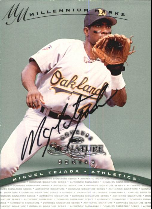 1997 Donruss Signature Autographs Millennium #118 Miguel Tejada