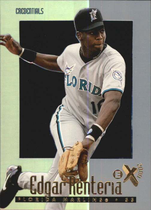 1997 E-X2000 Credentials #73 Edgar Renteria