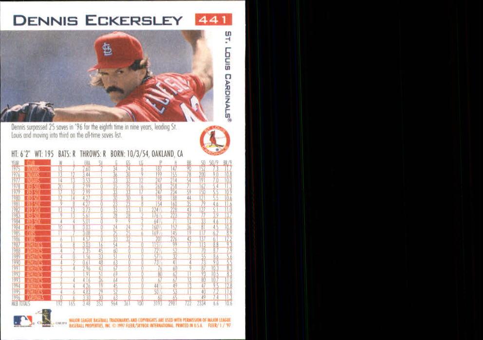 1997 Fleer #441 Dennis Eckersley back image