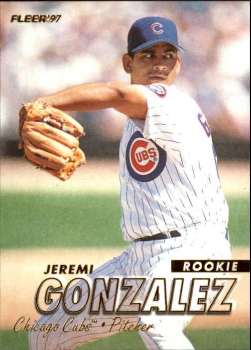 1997 Fleer #752 Jeremi Gonzalez RC