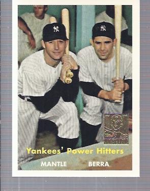 1997 Topps Mantle #23 Mickey Mantle/Yogi Berra/1957 Topps