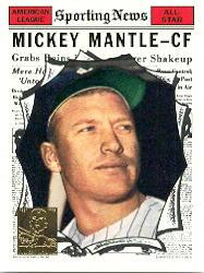 1997 Topps Mantle #32 Mickey Mantle/1961 Topps AS