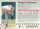 1997 Topps Stars #50 Roger Clemens back image