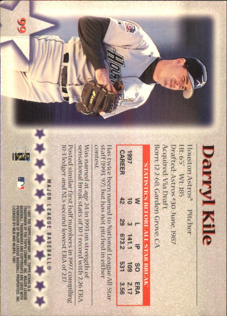1997 Topps Stars #99 Darryl Kile back image