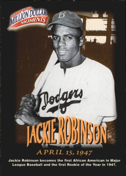 1997-98 Fleer Million Dollar Moments #17 Jackie Robinson