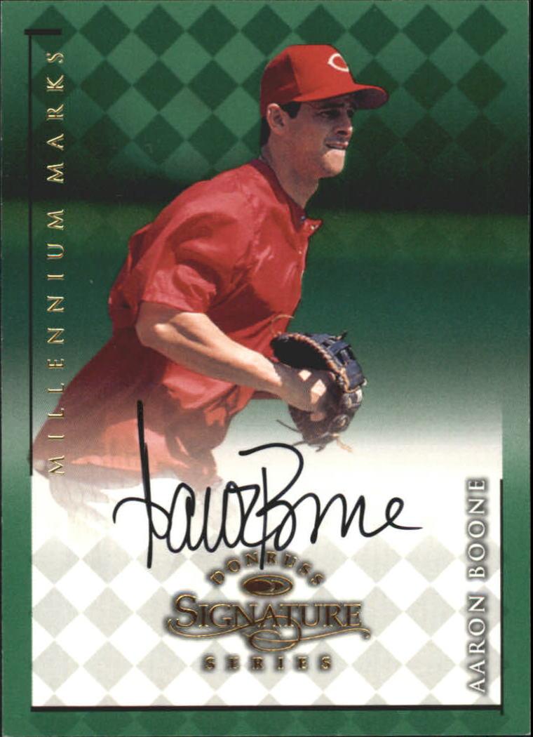 1998 Donruss Signature Autographs Millennium #13 Aaron Boone
