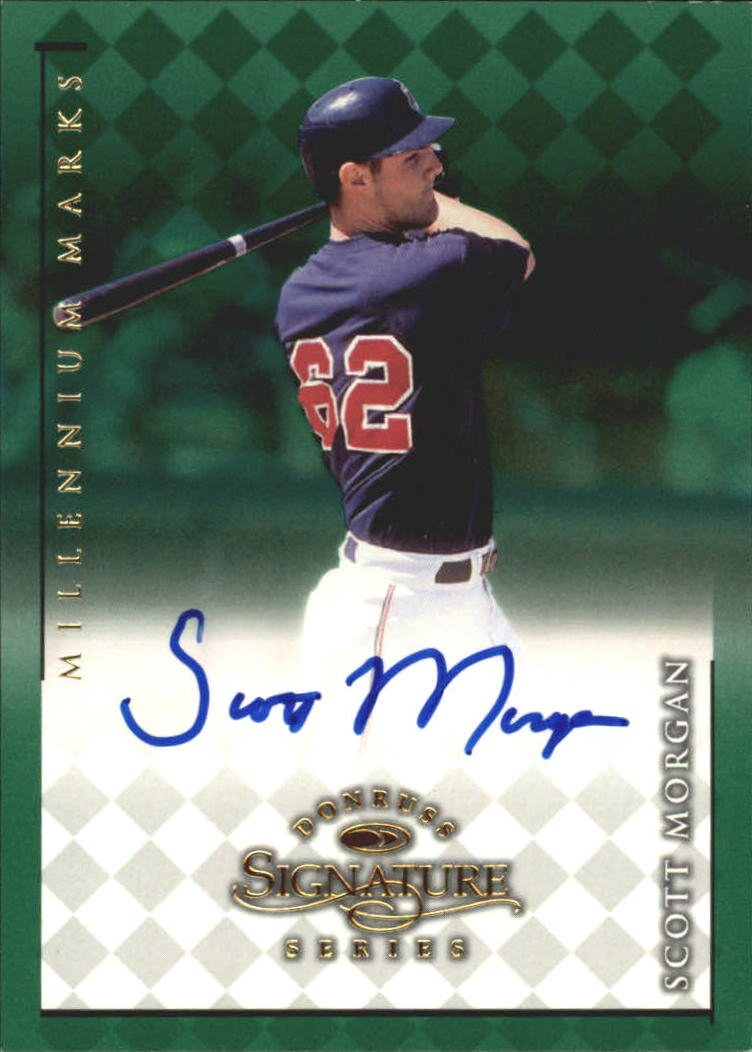1998 Donruss Signature Autographs Millennium #81 Scott Morgan