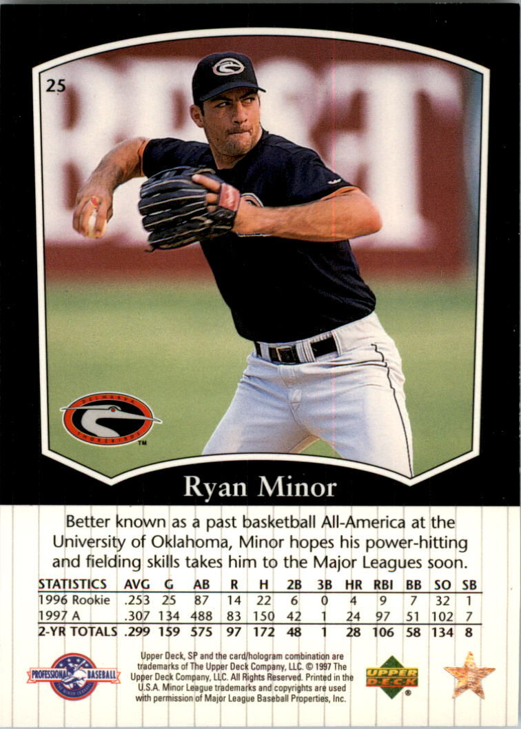 1998 SP Top Prospects #25 Ryan Minor back image