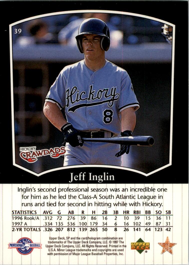 1998 SP Top Prospects #39 Jeff Inglin back image
