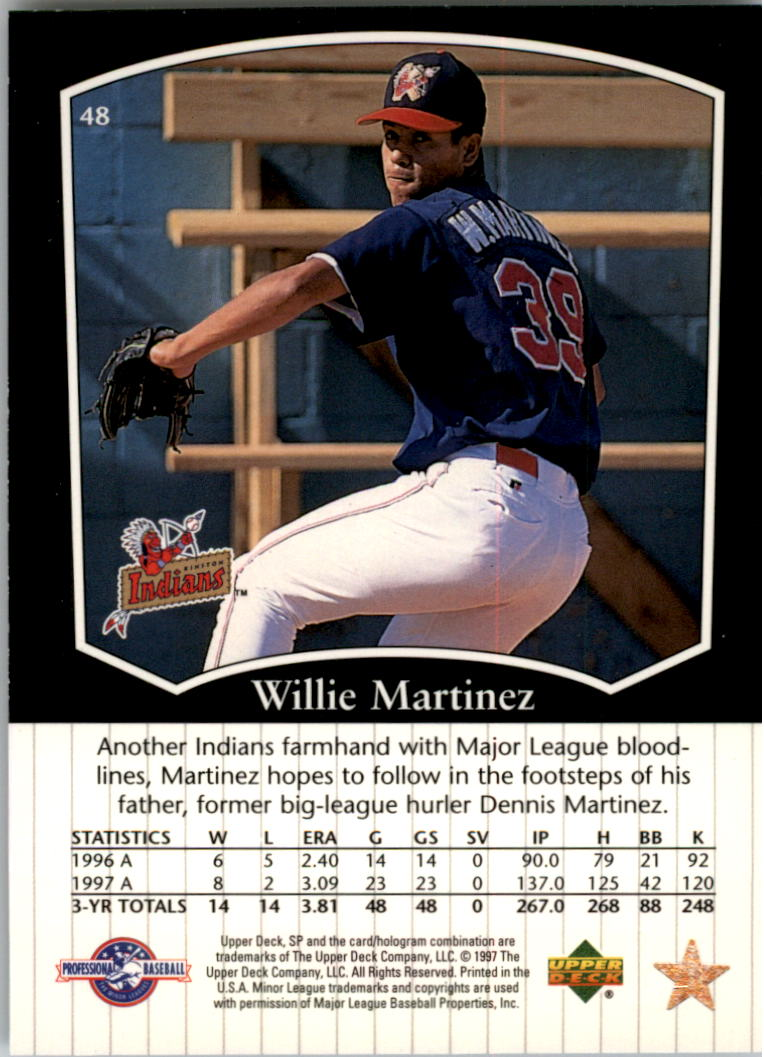 1998 SP Top Prospects #48 Willie Martinez back image