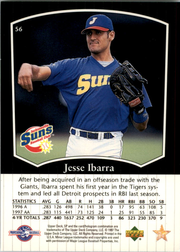 1998 SP Top Prospects #56 Jesse Ibarra back image