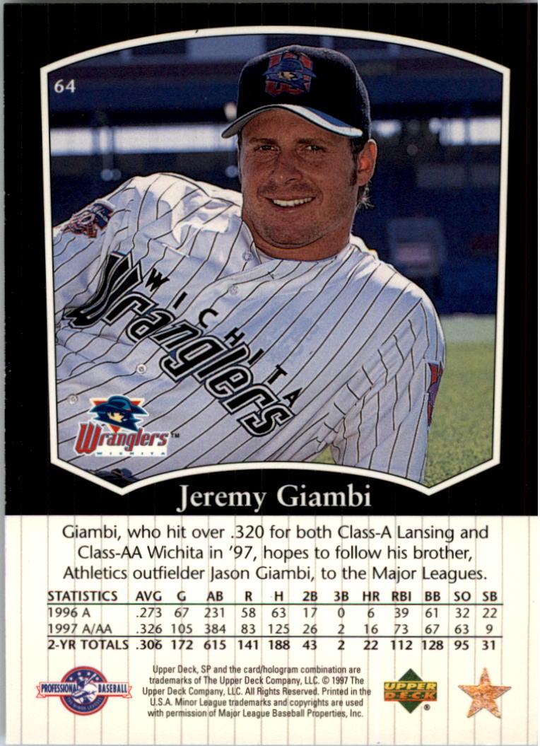 1998 SP Top Prospects #64 Jeremy Giambi back image