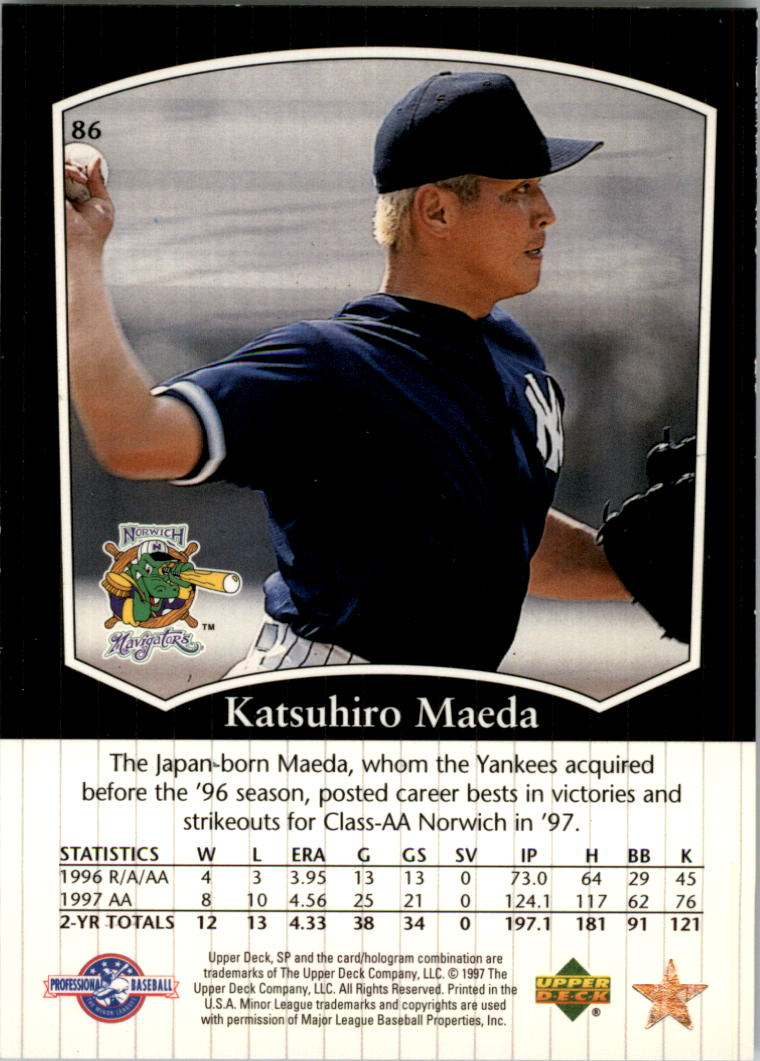 1998 SP Top Prospects #86 Katsuhiro Maeda back image
