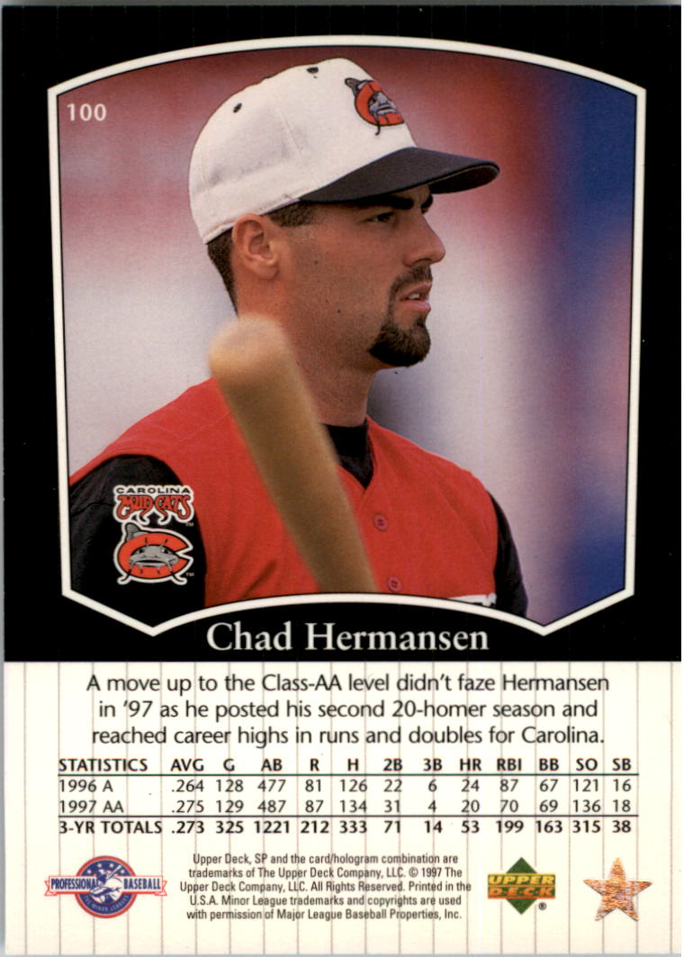 1998 SP Top Prospects #100 Chad Hermansen back image