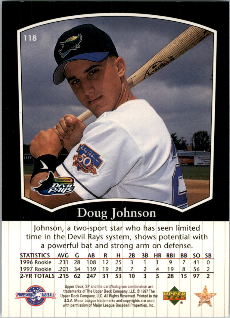 1998 SP Top Prospects #118 Doug Johnson back image