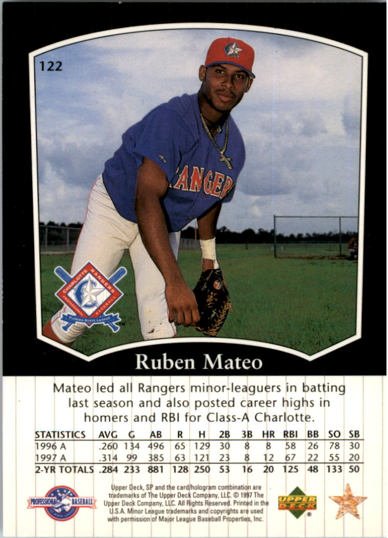 1998 SP Top Prospects #122 Ruben Mateo back image