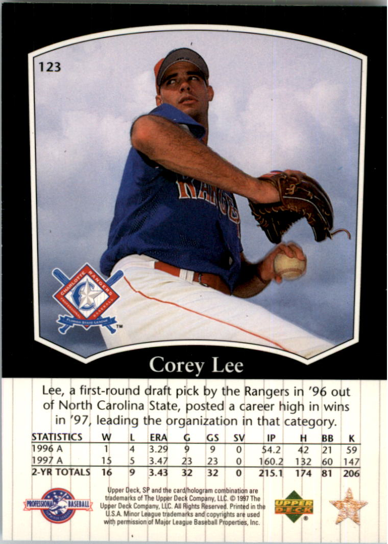 1998 SP Top Prospects #123 Corey Lee back image
