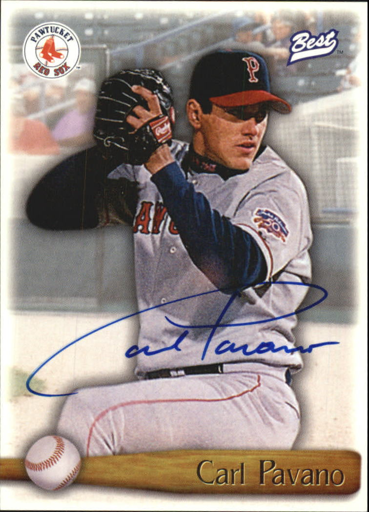 1998 Best Autographs Player of the Year #14 Carl Pavano