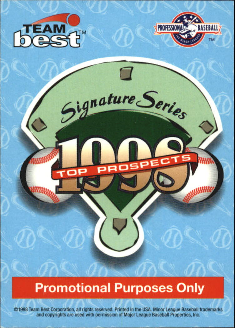 1998 Best Promos Signature Series #1 Rick Ankiel Diam.Best