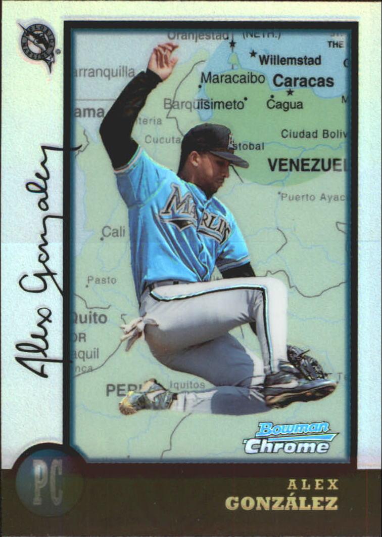 1998 Bowman Chrome International Refractors #73 Alex Gonzalez