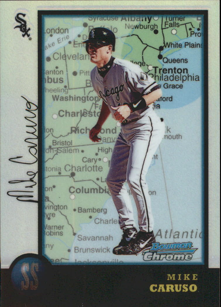 1998 Bowman Chrome International Refractors #299 Mike Caruso