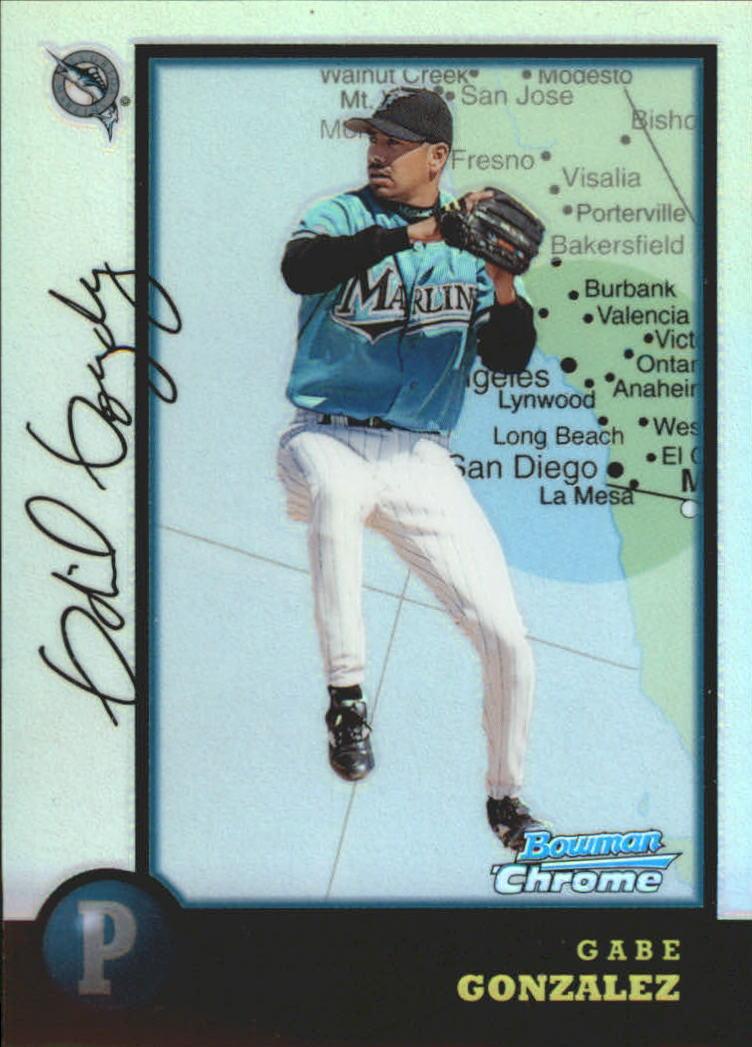 1998 Bowman Chrome International Refractors #343 Gabe Gonzalez