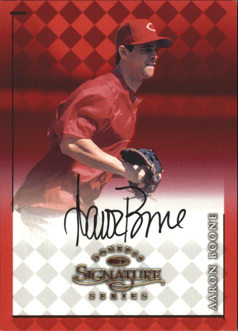 1998 Donruss Signature Autographs #9 Aaron Boone/3400*