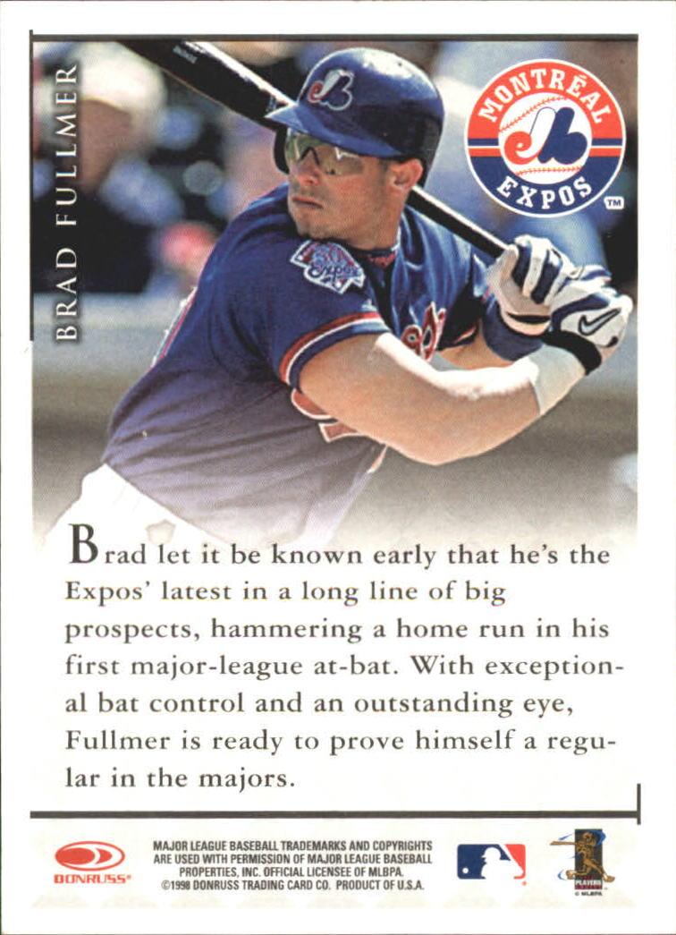 1998 Donruss Signature Autographs #33 Brad Fullmer/3100* back image