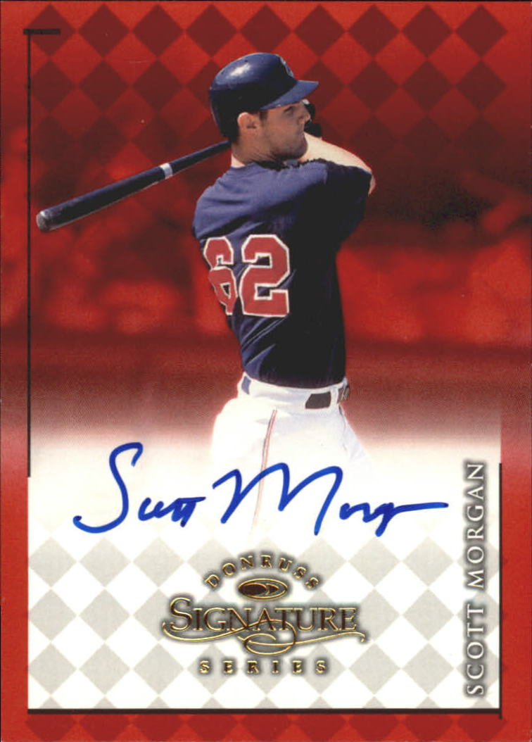 1998 Donruss Signature Autographs #61 Scott Morgan/900*