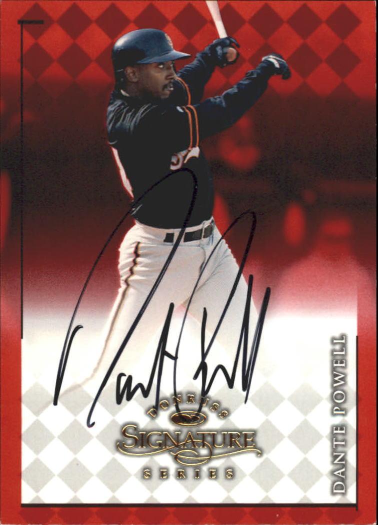 1998 Donruss Signature Autographs #71 Dante Powell/3050*