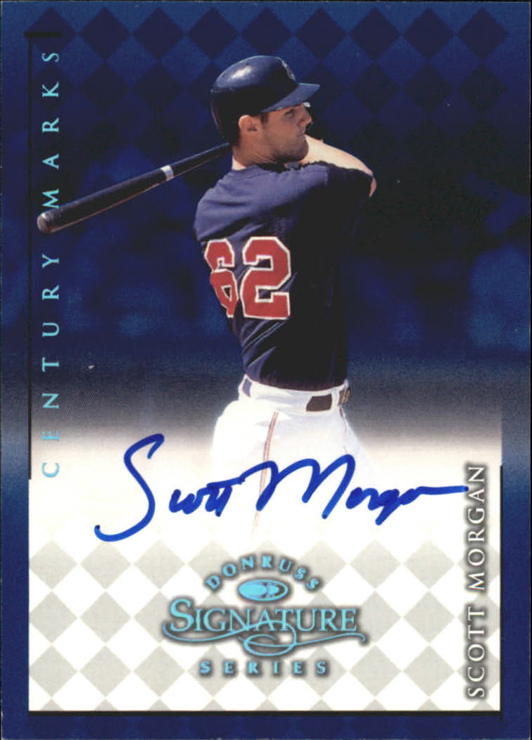 1998 Donruss Signature Autographs Century #80 Scott Morgan
