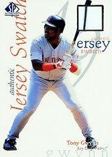 1998 SP Authentic Game Jersey 5 x 7 #5 Tony Gwynn/415