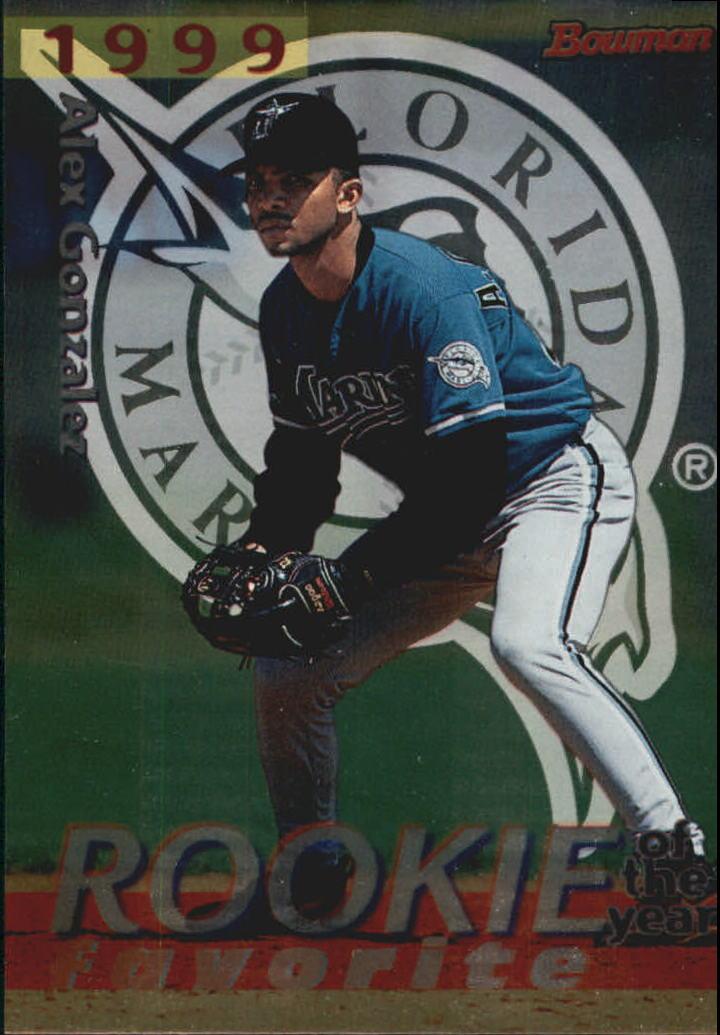 1998 Bowman 1999 ROY Favorites #ROY10 Alex Gonzalez