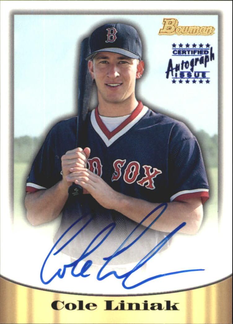 1998 Bowman Certified Blue Autographs #8 Cole Liniak