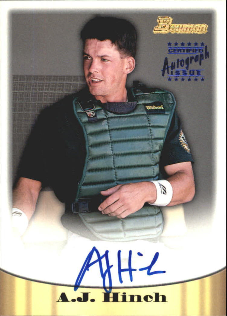 1998 Bowman Certified Blue Autographs #9 A.J. Hinch