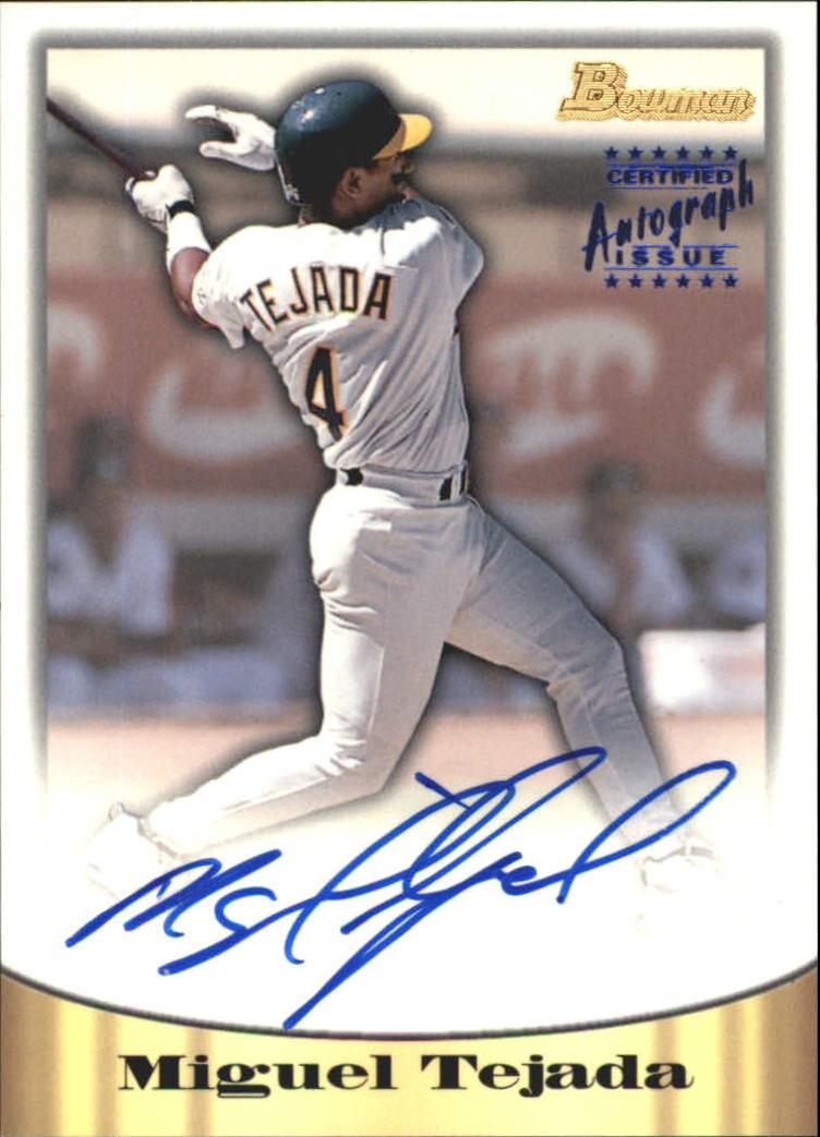 1998 Bowman Certified Blue Autographs #46 Miguel Tejada