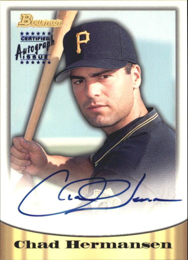 1998 Bowman Certified Blue Autographs #53 Chad Hermansen