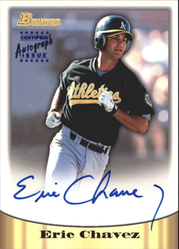 1998 Bowman Certified Blue Autographs #55 Eric Chavez