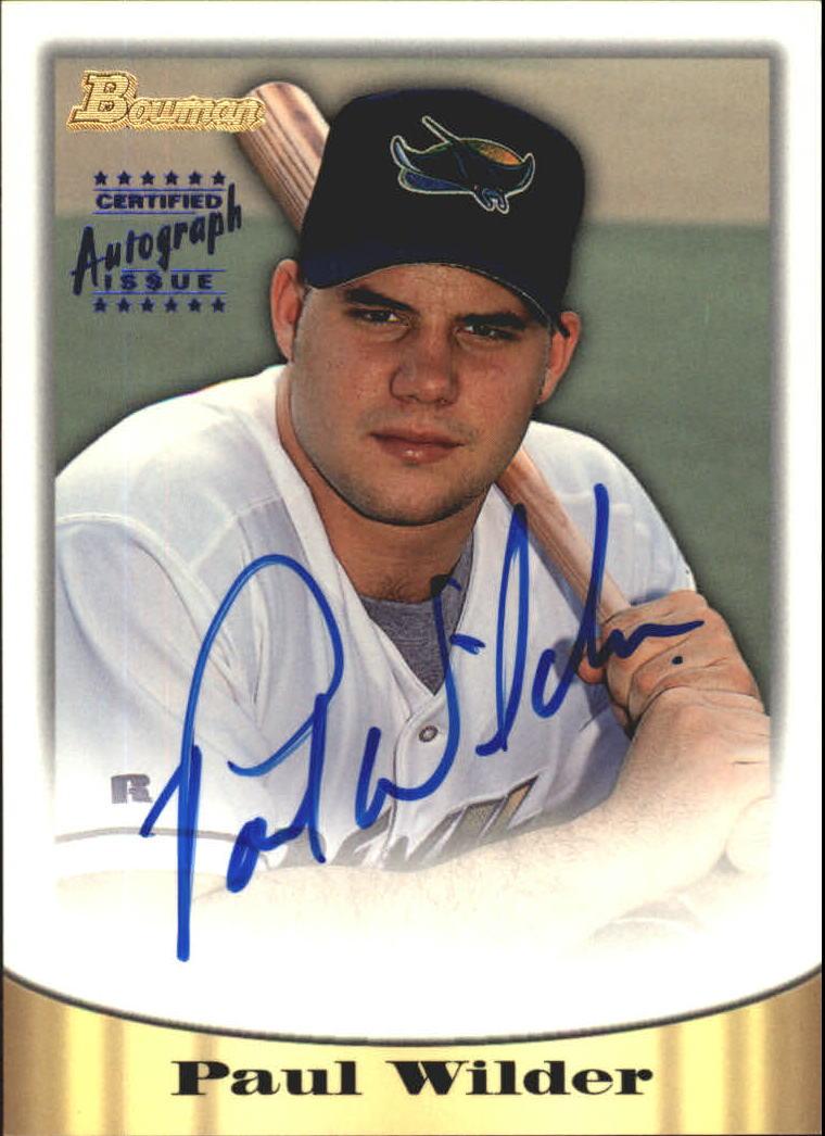 1998 Bowman Certified Blue Autographs #58 Paul Wilder