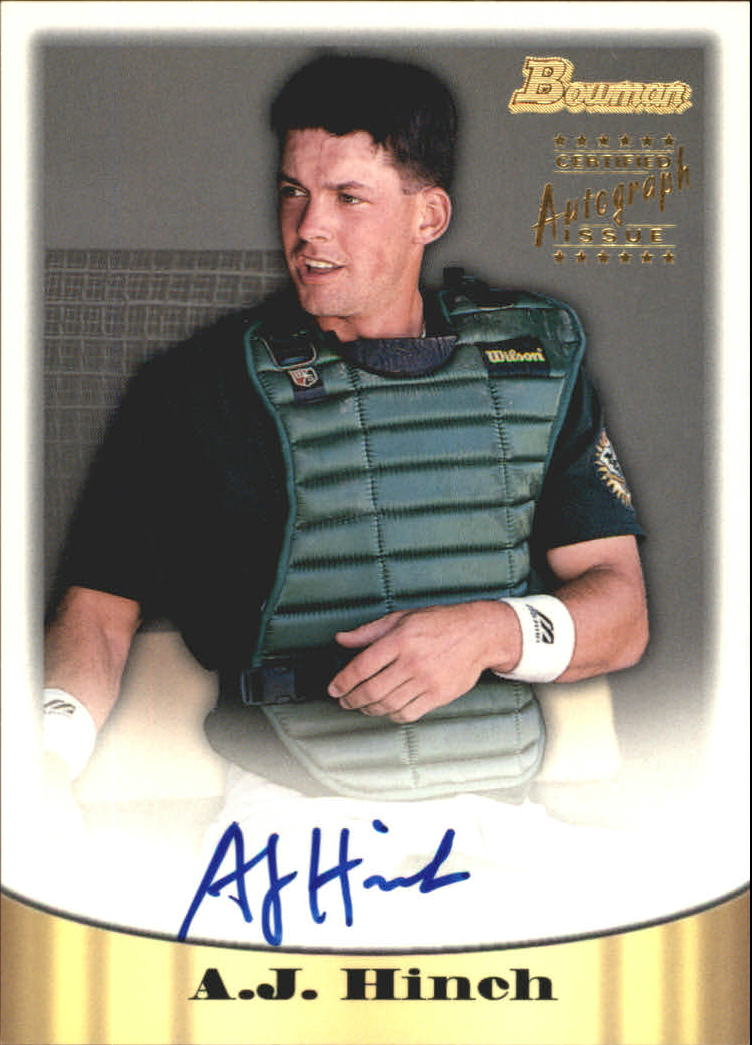 1998 Bowman Certified Gold Autographs #9 A.J. Hinch