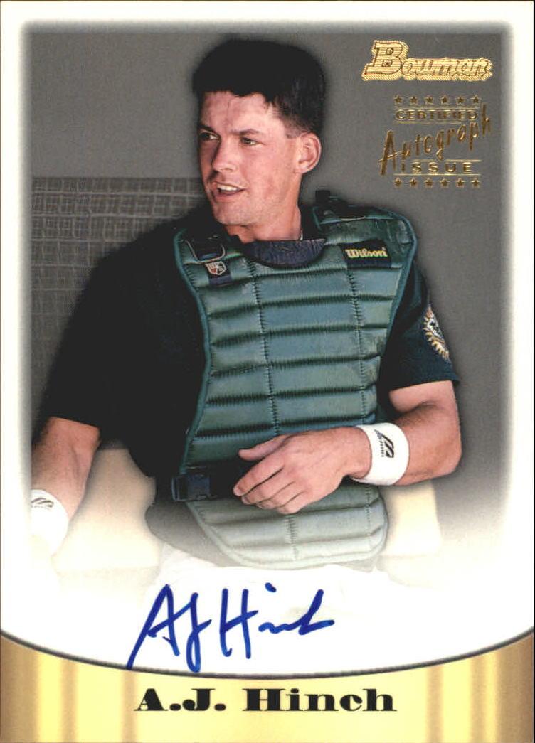 1998 Bowman Certified Gold Autographs #9 A.J. Hinch