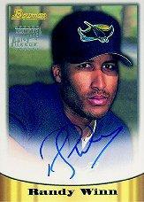 1998 Bowman Certified Silver Autographs #33 Randy Winn