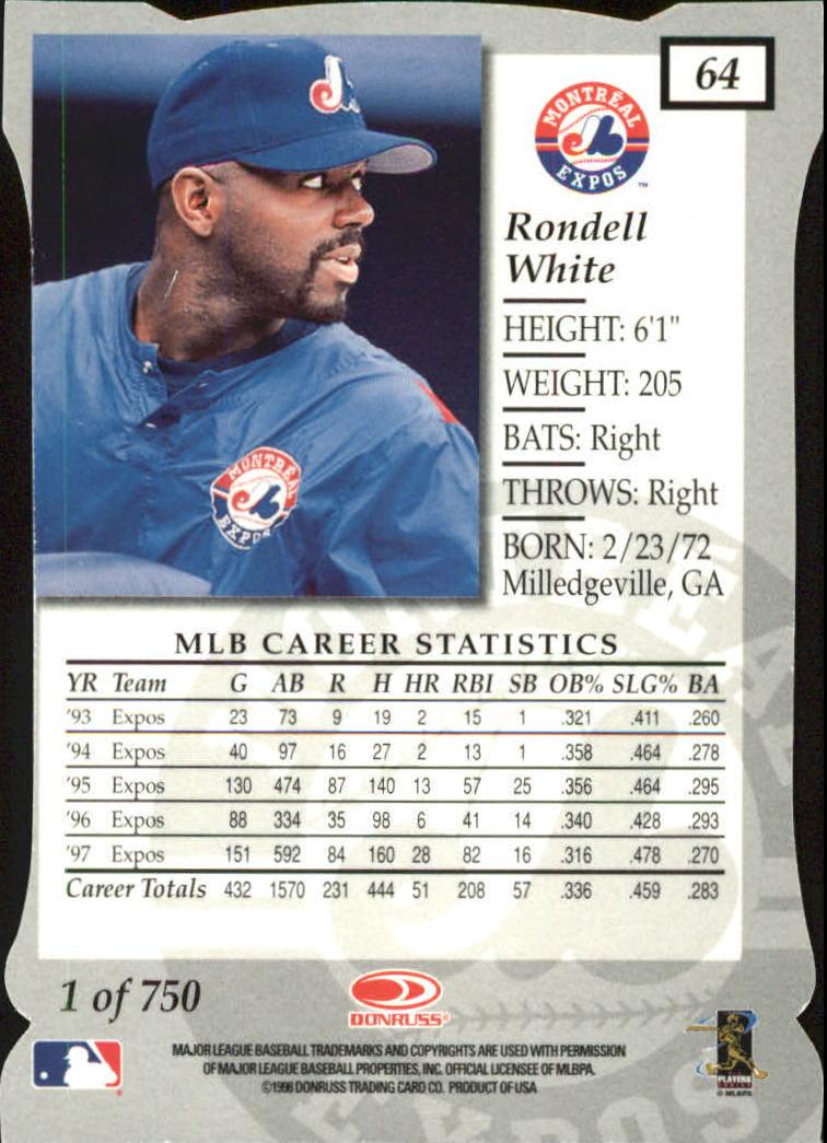 1998 Donruss Elite Aspirations #64 Rondell White back image