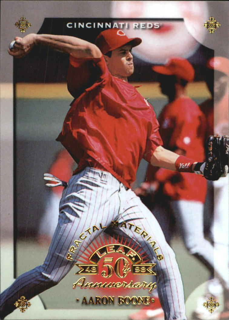 1998 Leaf Fractal Materials #23 Aaron Boone PY