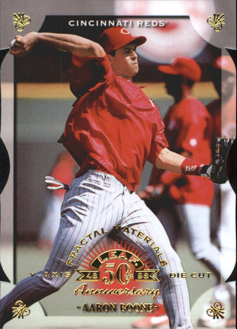 1998 Leaf Fractal Materials Die Cuts #23 Aaron Boone PY