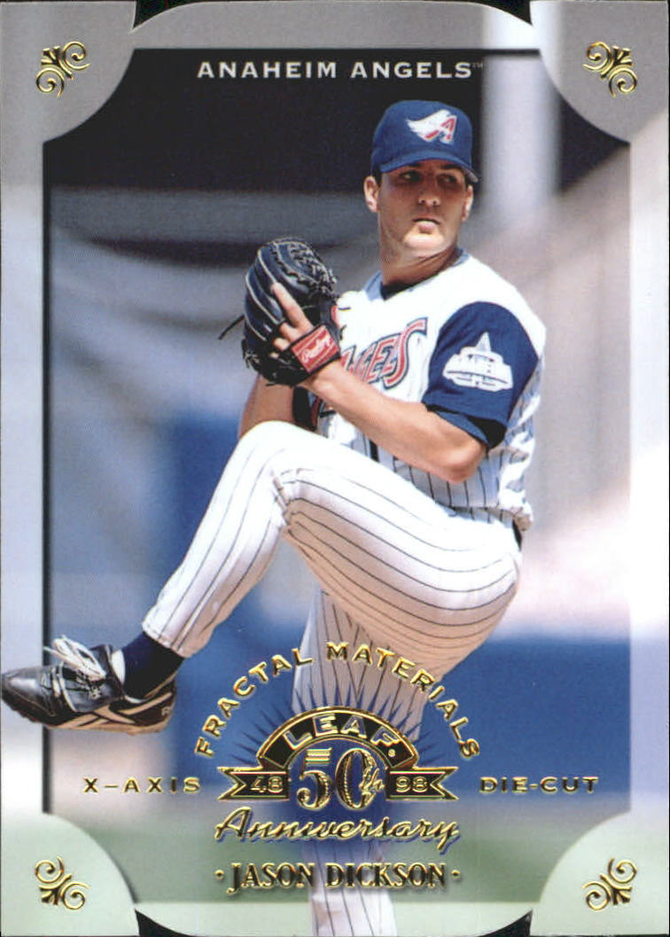 1998 Leaf Fractal Materials Die Cuts #141 Jason Dickson PX